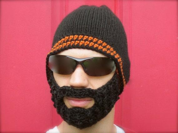 f97a078624c black beard hat crochet beard beanie mens bearded toque