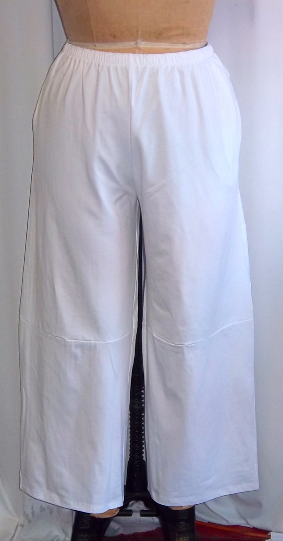 0543996e41f Coco and Juan Plus Size Pants Lagenlook Pants White Cotton