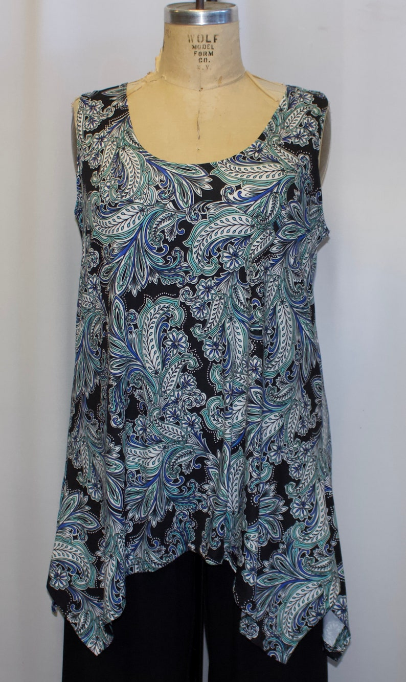 0e5fae455cded4 Plus Size Tank Top Plus Size Tunic Coco and Juan Lagenlook | Etsy