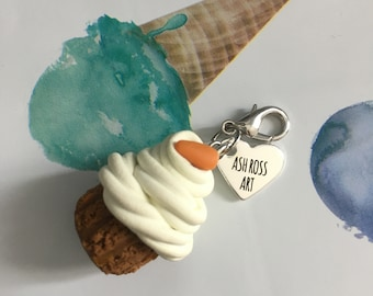 Carrot Cupcake Clip-on Charm