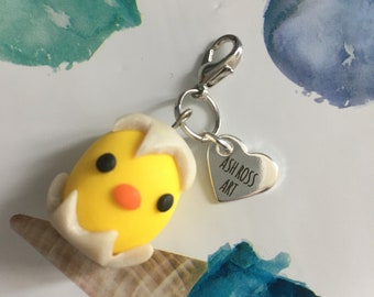 Easter Chick Clip on charm