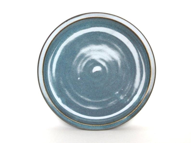 9  Twilight Blue Dinnerware Hand made Hand crafted pottery set- Set of 4 Dinner Plates- Ceramic Dinner Plates