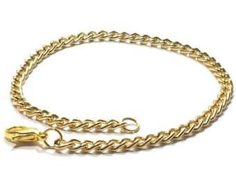 14k Gold  Plated  Chain  Bracelet