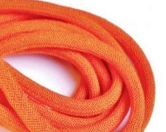 Orange Nylon Cord , 8MM Nylon Cord , Nylon Cord For Bracelets , Macrame Supplies , 6 Ft