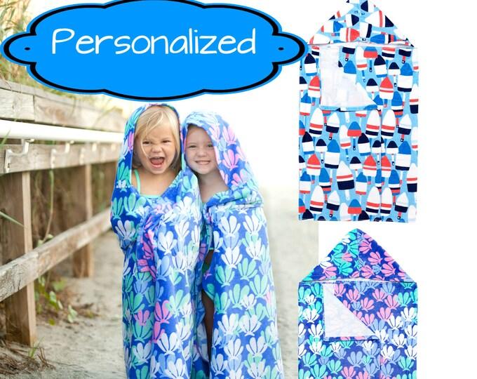 Personalized Kids hooded towel, kids beach towel, kids hooded beach towel, kids bath towel, kids pool towel