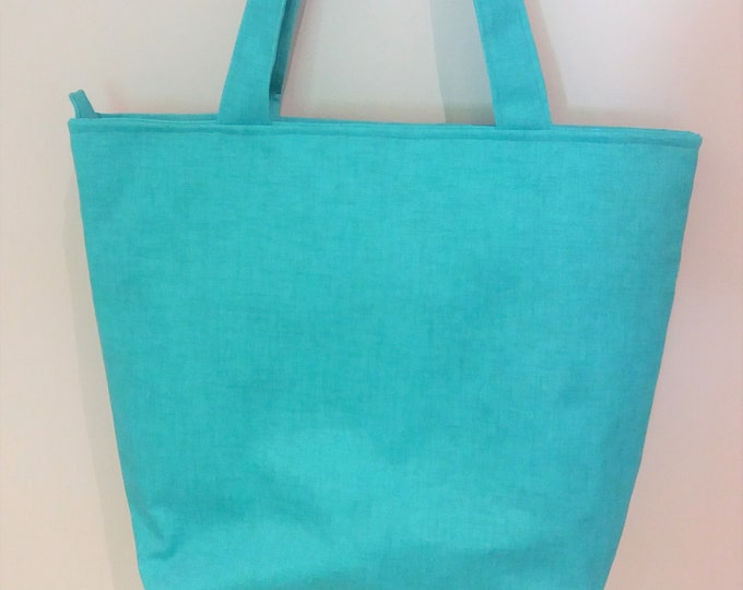 Turquoise Tote Bag, Beach Bag, Teacher Tote Bag, Mother's Day Gift, Gift for Mom