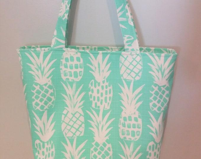 Pineapple Tote Bag, Beach Bag, Teacher Tote Bag, Mother's Day Gift, Gift for Mom