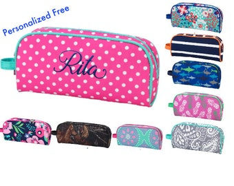 Personalized Pencil Case, Zippered Pencil Pouch with Name, Personalized School Supplies