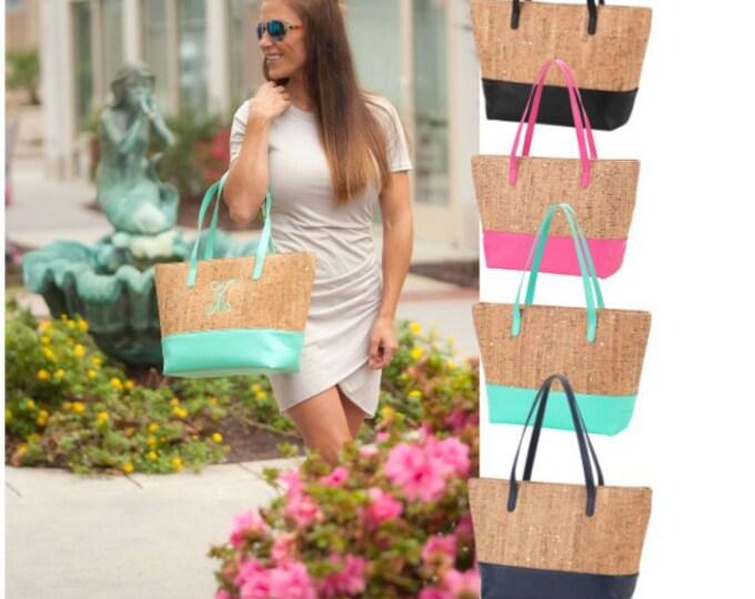 Personalized Cork Purse Tote Bag