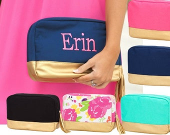 Personalized Makeup Bag, Gift for woman or teen, Cosmetic bag for makeup and toiletries, Zippered makeup case