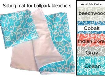 Waterproof Mat for ballpark bleachers, waterproof sitting mat, waterproof seat protector,  ballpark seat,