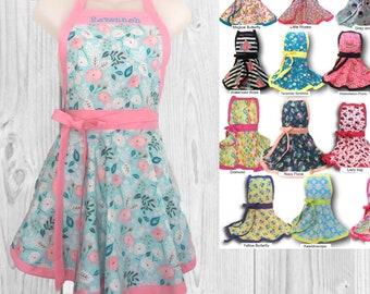 Kids apron,  child's apron, girls apron,  personalized apron, custom apron childrens apron