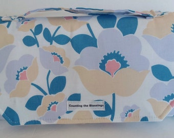 Diaper Clutch Baby Changing Mat, Fold Up  Changing Pad, All in one Changing Clutch, Travel changing pad, Changing Wallet