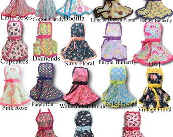 Girls Apron-Many prints, sizes and Personalization Available