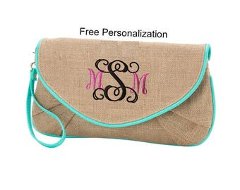Personalized purse,  Cross body Purse, Wristlet Clutch, Gift for Woman, Personalized Bridesmaid Gift