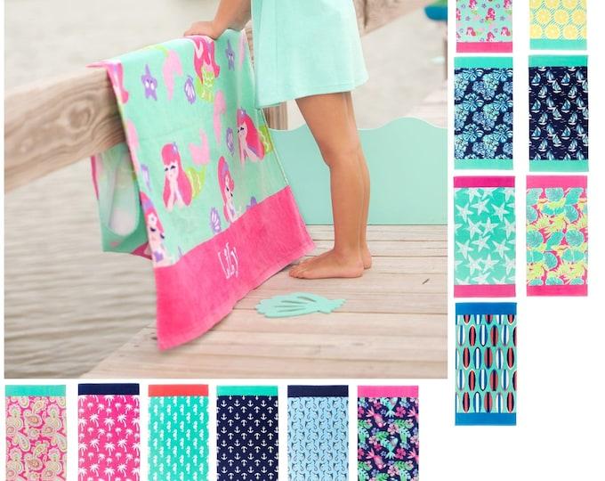 Personalized Beach Towel, Beach towel with name, Custom Beach Towel, Summer pool towel, swim towel