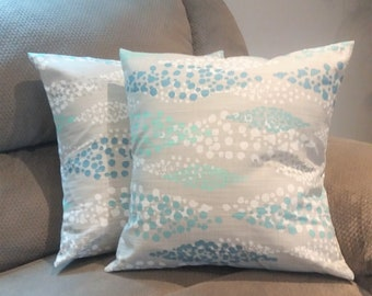 Set of 2 Pillow Covers, 18X18  Gray pillow cover, home decor throw pillow covers,