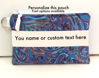 Cosmetic Pouch, Personalized gift, Personalized bag,  Makeup pouch, makeup bag, gift idea, gift for woman, cosmetic bag, gift for friend