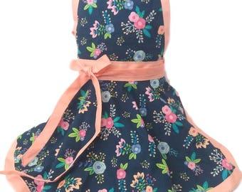Kids Kitchen apron, girls apron, kids apron, childs apron,
