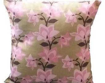 Pink Flower Pillow Cover, 18 inch pillow cover, Floral Pillow cover