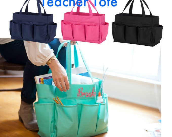 Featured listing image: Personalized Teacher Tote Bag