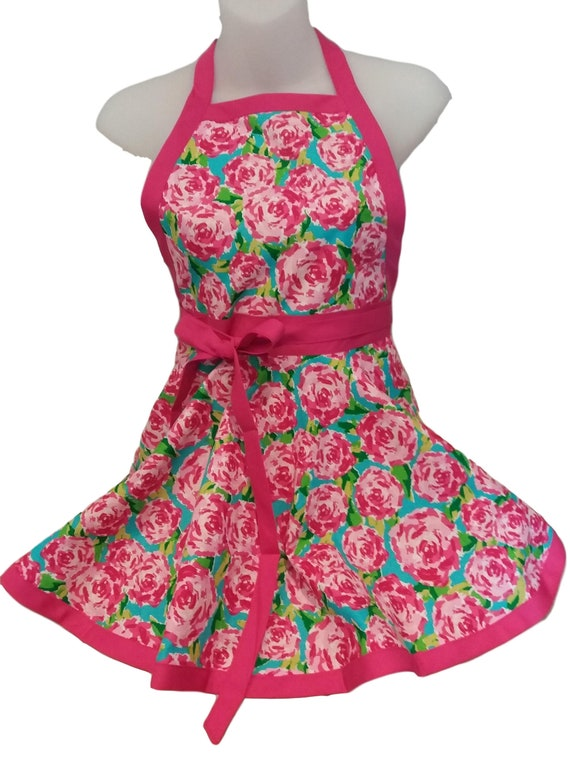 Rose kids Apron, Kids Kitchen apron, girls apron, kids apron, childs apron,  baking birthday gift for girl