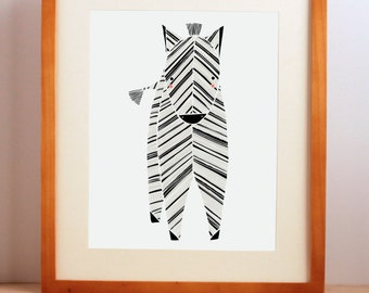 Zoo Nursery Art, Zebra Nursery Room, Safari Nursery Art, Zoo Animal Print, Baby Animal Art, Boy, Girl, Safari Zebra Art Print