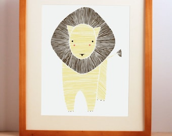 Jungle Nursery Art, Safari Nursery Art, Jungle Lion Print, Nursery Lion Art, Nursery Animal Decor, Baby Lion, Nursery Wall Art
