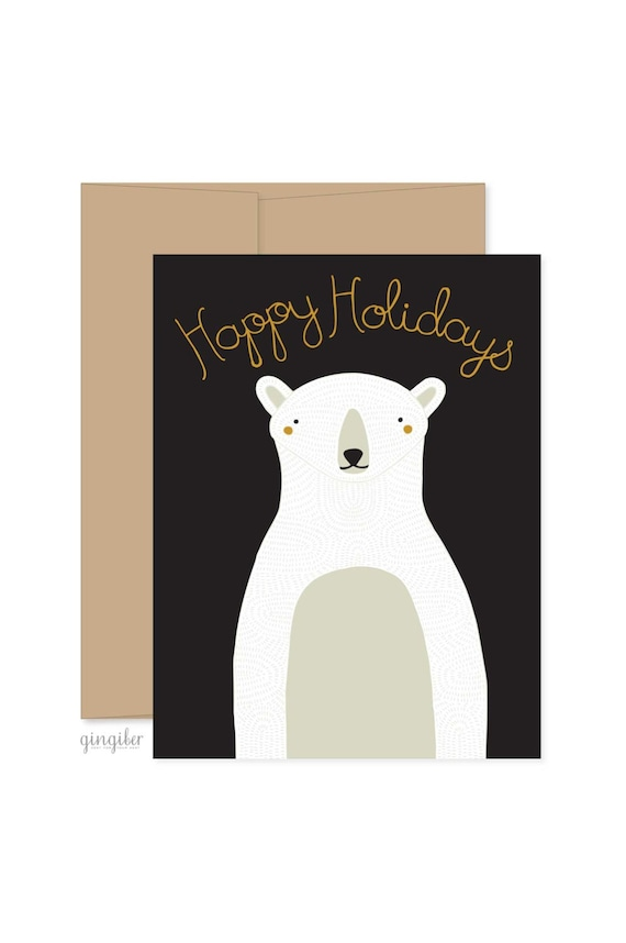 Christmas Stationery Polar Bear Christmas Cards Xmas | Etsy