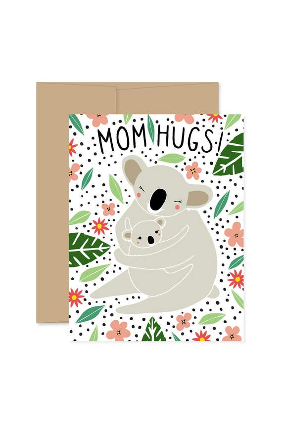 8 mom hug cards blank koala cards koala boxed set koala etsy image 0 m4hsunfo