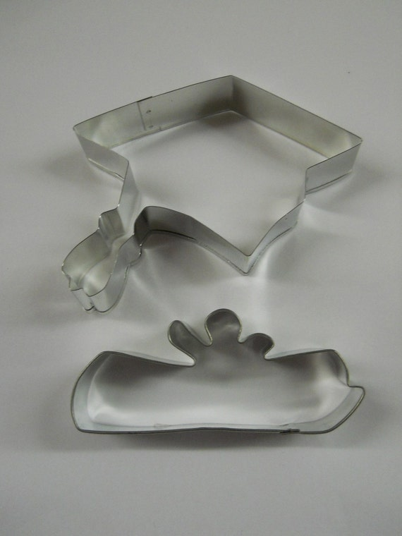 Made in USA Graduation Cookie cutter set Set of 2 Graduation Cap and Diploma