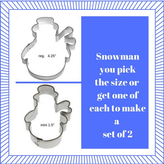 Snowman With Hat And Scarf Cookie Cutter Etsy