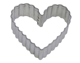 "4"" Fluted Heart Cookie Cutter Valentine's Day Wedding"
