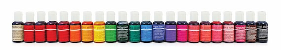 Chefmaster liqua-gel food coloring dye, Made in USA for decorating cookies, cakes, desserts   You Choose Color