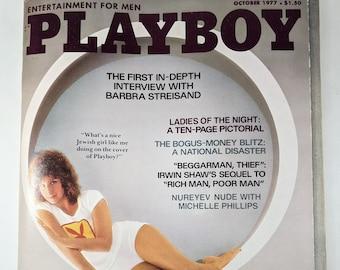 October 1977 Playboy Magazine, Barbara Streisand Interview, Kristine Winder Centerfold