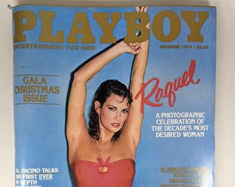 December 1979 Playboy Magazine, GALA CHRISTMAS ISSUE, Raquel Welch Cover, Al Pacino Interview