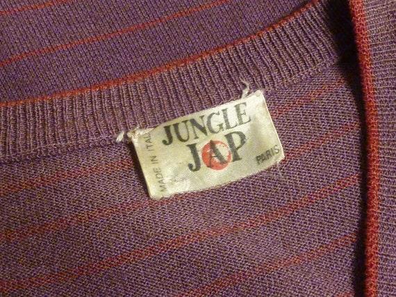 Vintage 1970s Kenzo Jungle J.A.P. Knit Maxi Dress… - image 3