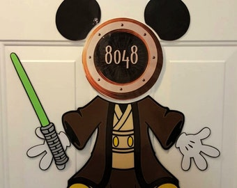 Mickey Jedi Star Wars Mickey Disney cruise  Body Part Stateroom Door Magnets for Disney Cruise