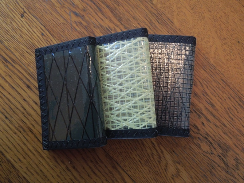 Tri-fold Sailcloth Wallet made with Kevlar