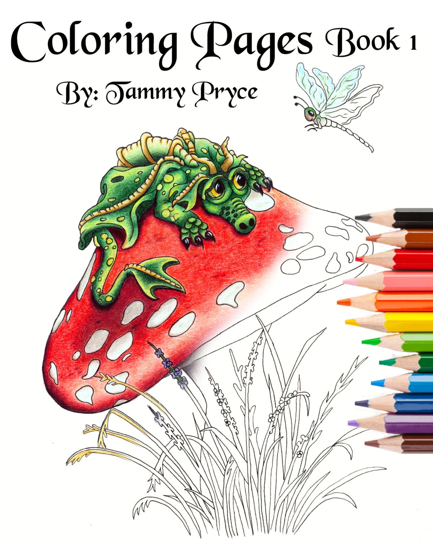 Fantasy Art Coloring Book 1 with Dragons Mermaids & Fairies