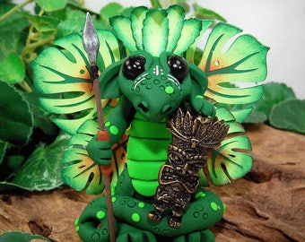 Polymer Clay Tropical Island Butterfly Dragon Sculpture Fantasy Home Decor Statue and Collectibles