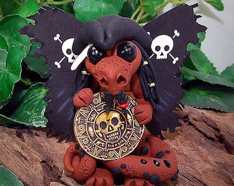 Polymer Clay Pirate Butterfly Dragon Sculpture Fantasy Home Decor Statue and Collectibles