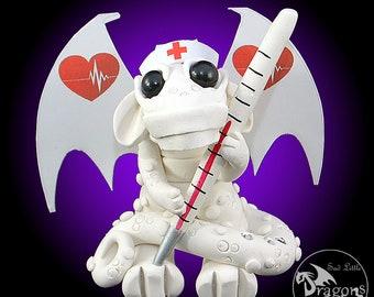 Polymer Clay Nurse Dragon Sculpture Fantasy Home Decor Statue and Collectibles