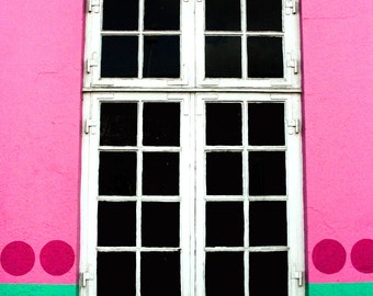 Photograph Pink Blue and Green Bright Colorful Window of the Palads Cinema in Copenhagen Denmark Travel Vertical Art Print Home Decor
