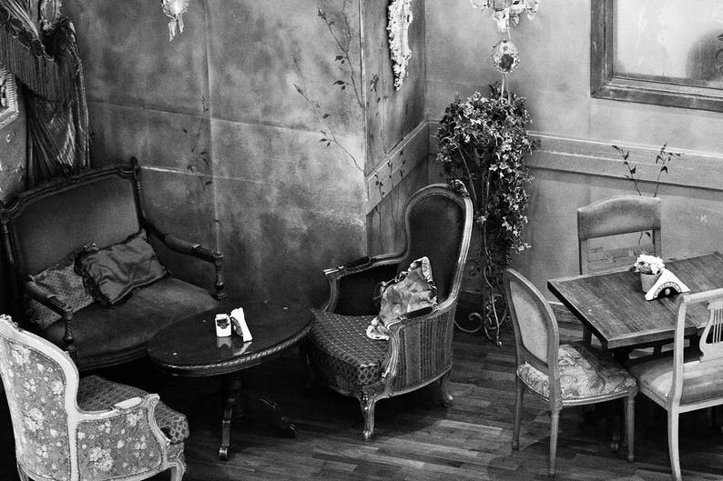 Photograph Black and White Interior Still Life Mismatched image 0