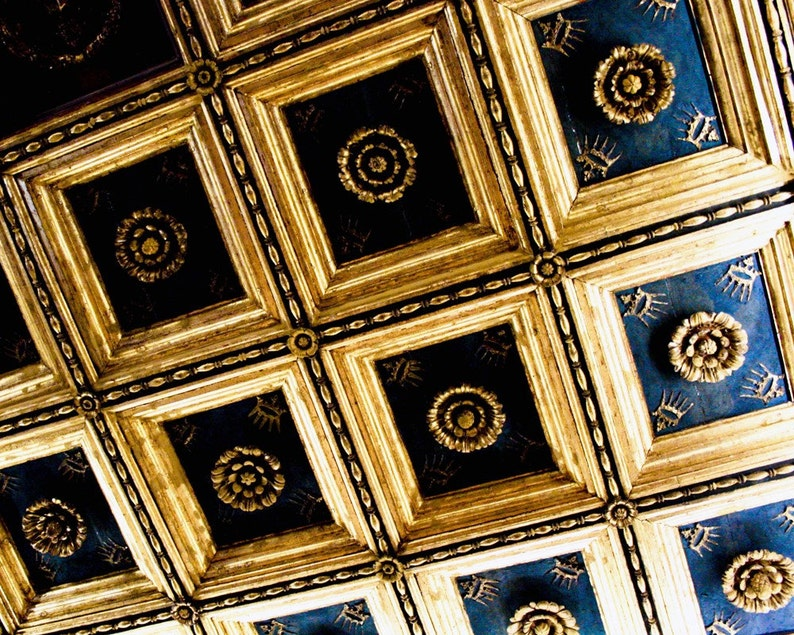 Photograph Abstract Geometric Gold and Black Roman Italian image 0