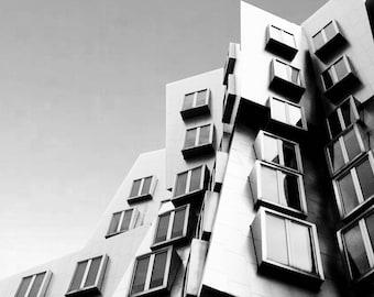 Photograph Frank Gehry MIT Stata Center Deconstructivist Architecture Building Cambridge Boston Massachusetts Vertical Art Print Home Decor