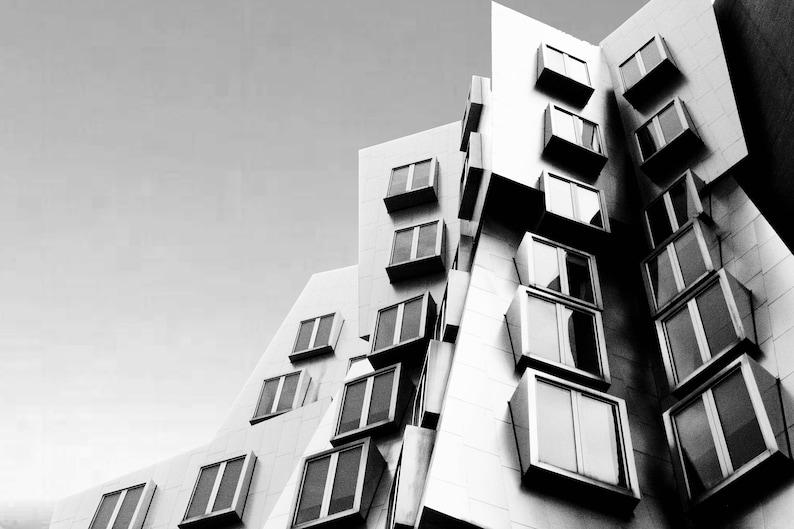 Photograph Frank Gehry MIT Stata Center Deconstructivist image 0