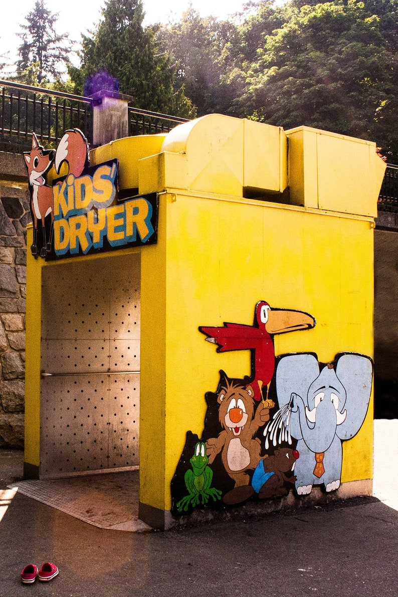 Photograph of Retro Whimsical Bright Yellow Kids Dryer in image 0
