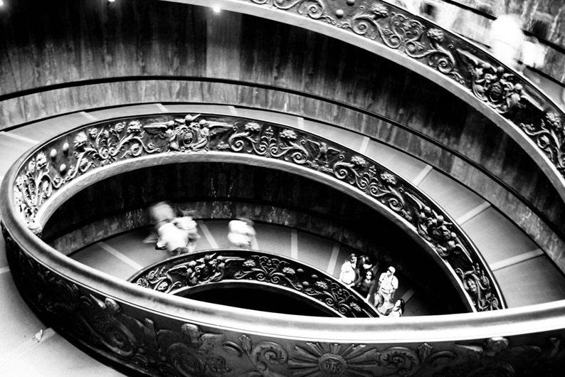Photograph Roman Black and White Bramante Architecture Winding image 0